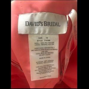 Coral bridesmaids dress David's Bridal